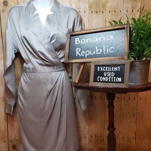 EUC + Banana Republic + wrap dress
